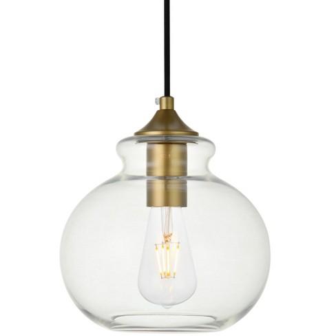 "Elegant Lighting LD2245 Destry Single Light 8"" Wide Mini Pendant with Clear Glass - image 1 of 4"