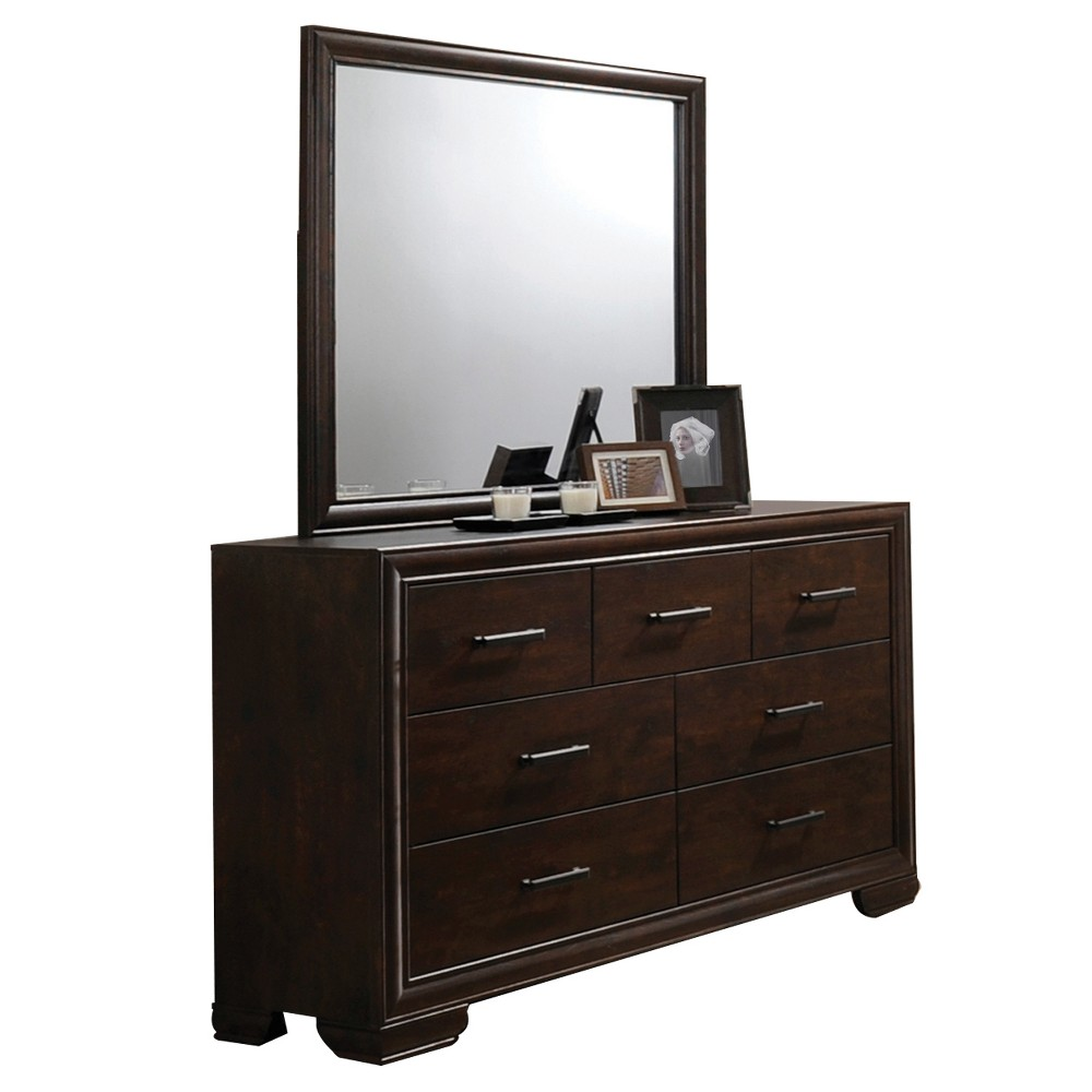 Lee Dresser And Mirror Set Mahogany - Home Source Industries