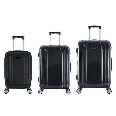 InUSA SouthWorld 3pc Hardside Spinner Luggage Set 19 & 23 & 27  - Dark Gray Brush