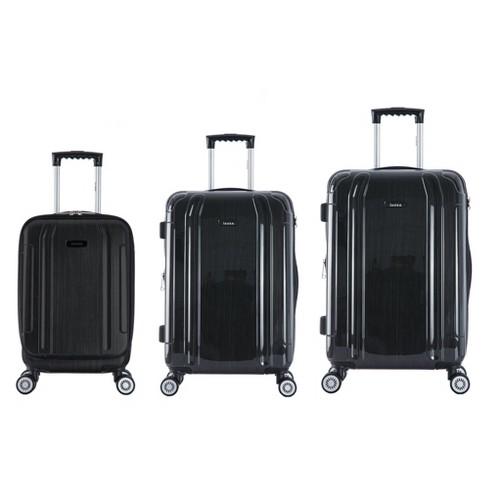 """InUSA SouthWorld 3pc Hardside Spinner Luggage Set 19""""& 23""""& 27"""" - Dark Gray Brush - image 1 of 4"""