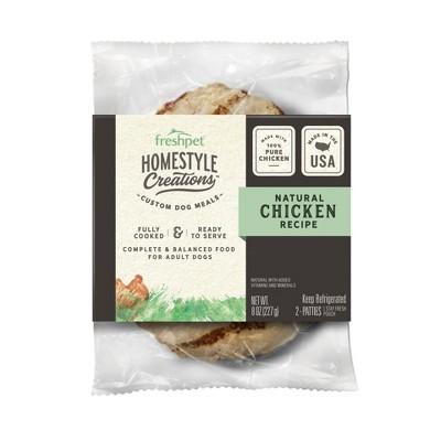 Freshpet Homestyle Creations Chicken Patties Wet Dog Food - 2pk