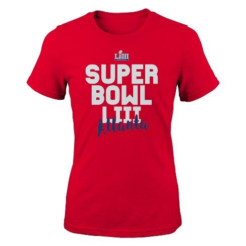 aed1a69f NFL Super Bowl 53 Girls' Crew Neck T-Shirt - L : Target