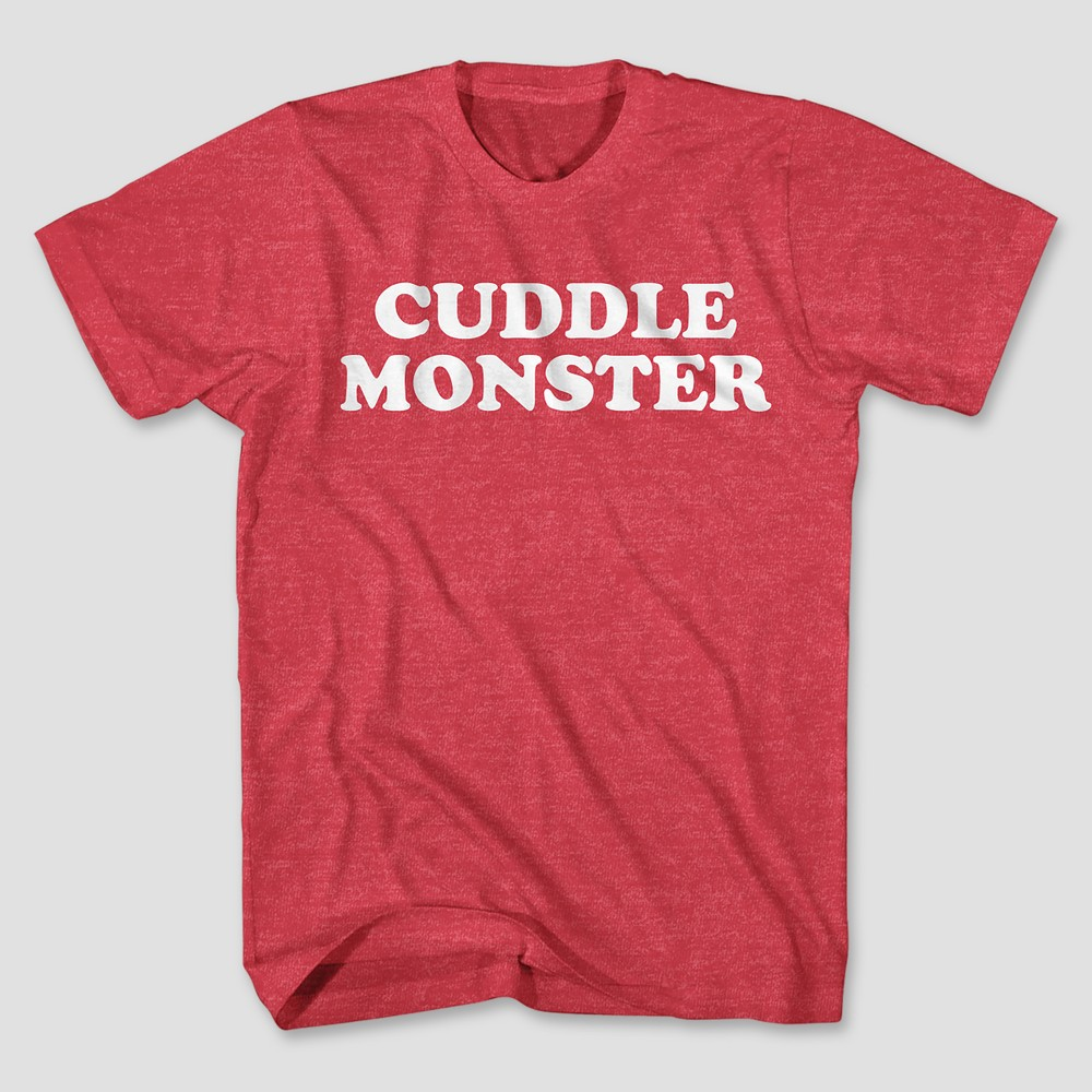 Men's Short Sleeve Cuddle Monster T-Shirt - Red Heather Xxl
