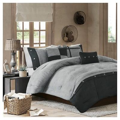Gray Powell Printed Comforter Set (Queen)5pc