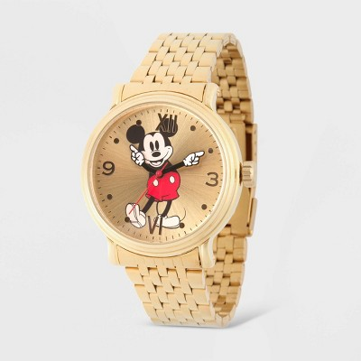 Men's Disney Mickey Mouse Vintage Bracelet Watch - Gold