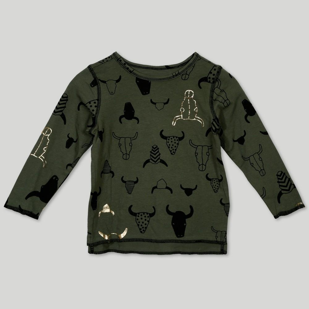 Image of Afton Street Toddler Boys' Sweatshirt - Green 12M, Boy's