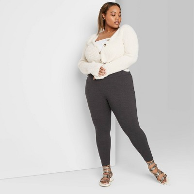 Women's High-Waisted Leggings - Wild Fable™ Charcoal Gray