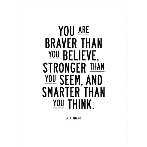 You Are Braver Than You Believe by Brett Wilson Unframed Wall Art Print - image 1 of 2