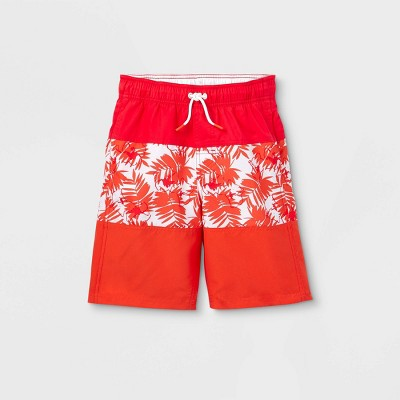 Boys' Colorblock Swim Trunks - Cat & Jack™ Orange
