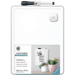 """8.5"""" x 11"""" Contempo Magnetic Dry Erase Board White - U-Brands"""