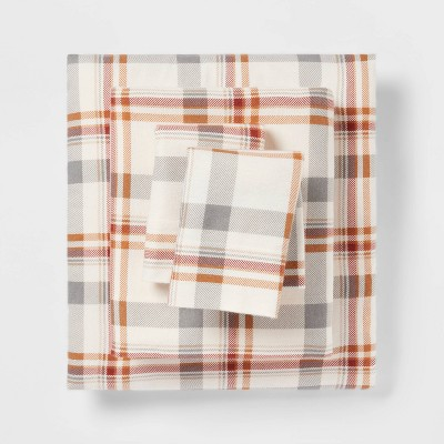 Fall Flannel Patterned Sheet Set - Threshold™