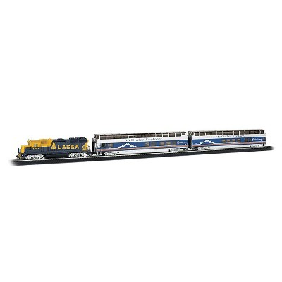 Bachmann Trains 00743 McKinley Explorer Ready To Run HO Scale 1:87 Electric Train Set with Power Pack and Speed Controller, Blue and White