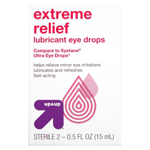Up&Up™ Extra Relief Lubricant Eye Drops - 1 fl oz (Compare to active ingredients in Systane Ultra High Performance Lubricant Eye Drops) - image 1 of 2