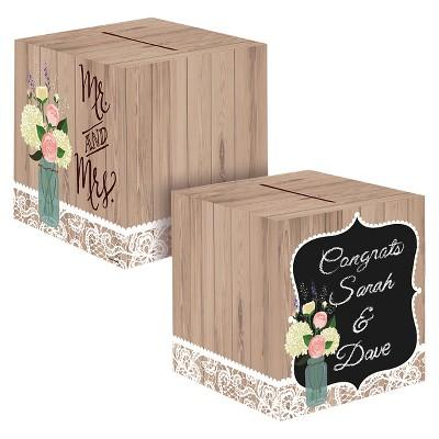 Rustic Wedding Card Box, each