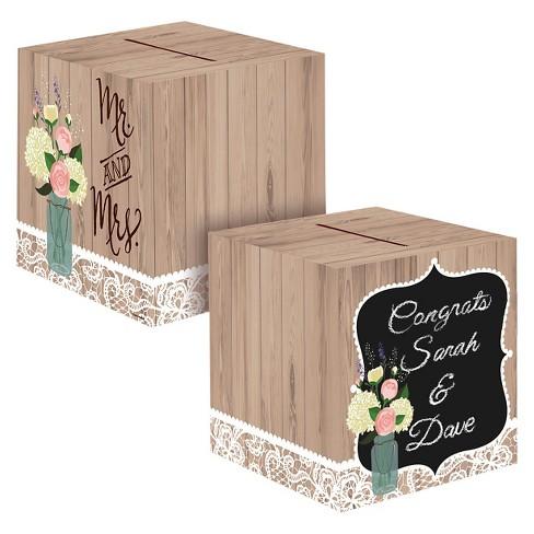 Card Box Wedding.Rustic Wedding Card Box Each