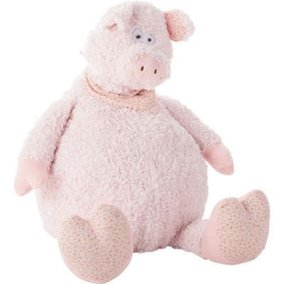 Oversized Pig Plush Throw Pillow Pink - Mina Victory
