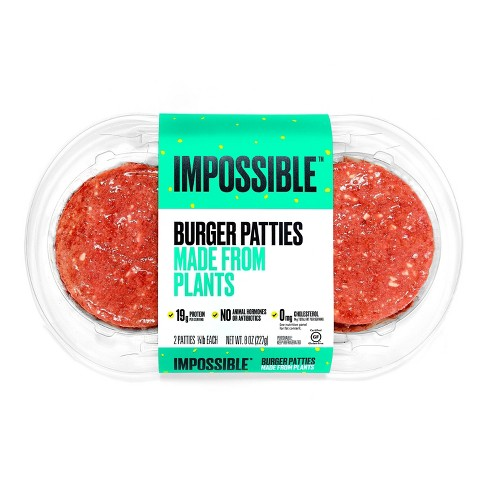 Impossible Burger Plant-Based Patties - 8oz - image 1 of 4