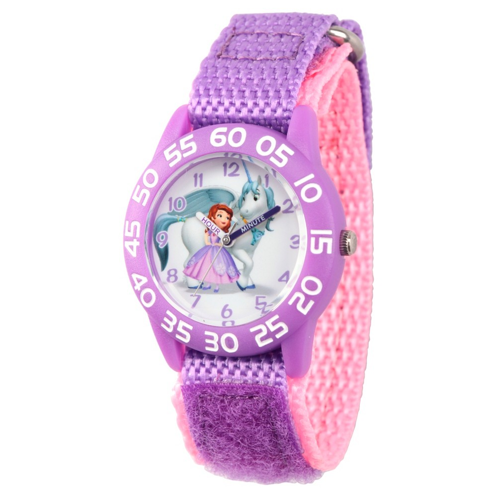 Best Review Girls Disney Princess Sofia Purple Plastic Time Teacher Watch Purple