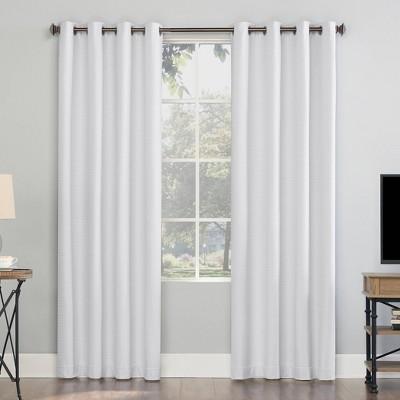 Array Woven Dobby Draft Shield Fleece Insulated 100% Blackout Grommet Curtain Panel - Sun Zero