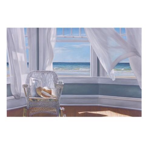 "24""x36"" Gentle Reader Coastal Canvas Art Blue - Patton Wall Decor - image 1 of 2"