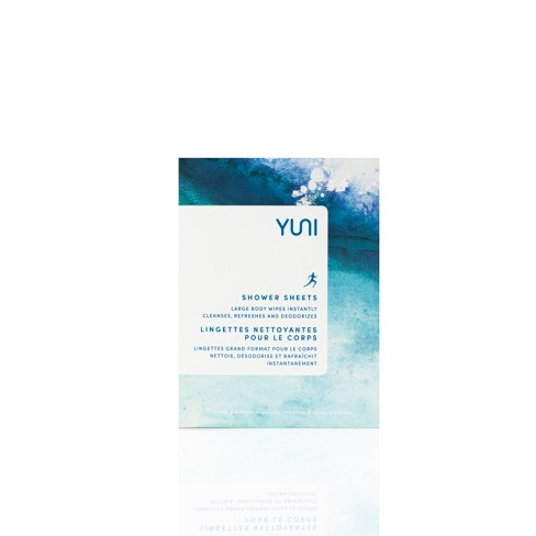 YUNI Shower Sheets Body Wipes - 12ct - image 1 of 4