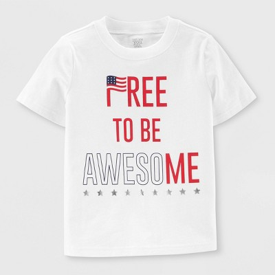 Baby 'Free to be Awesome' Short Sleeve T-Shirt - Just One You® made by carter's Cream 18M