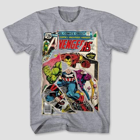 627f7fbde40 Men s Marvel Avengers Short Sleeve Comic Mashup Graphic T-Shirt ...