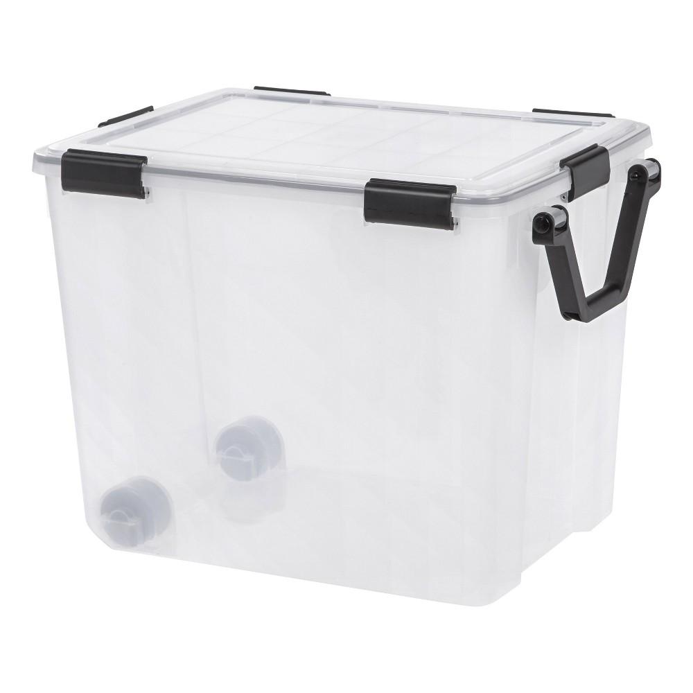 Image of IRIS 103qt Weathertight Storage Box Clear