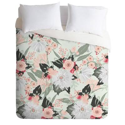 Iveta Abolina Carmella Creme Comforter Set Mint - Deny Designs