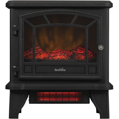Duraflame 550 Black Infrared Freestanding Electric Fireplace Stove with Remote Control - DFI-550-22