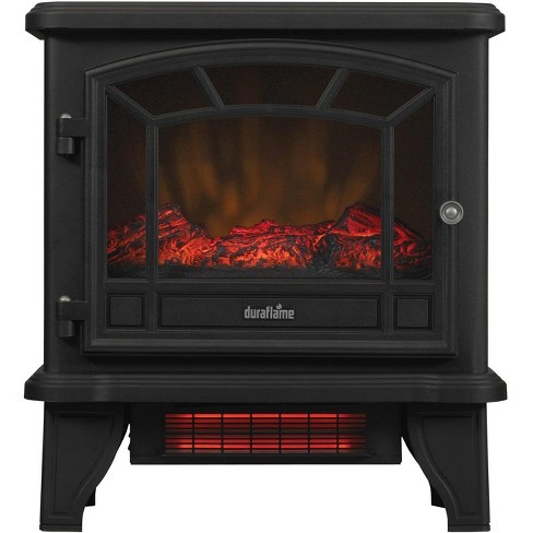 Duraflame 550 Black Infrared Freestanding Electric Fireplace Stove With Remote Control Dfi 550 22 Target