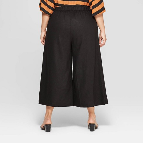 f03fc3edc4b Women s Plus Size Button Front Wide Leg Palazzo Pants - Who What Wear™