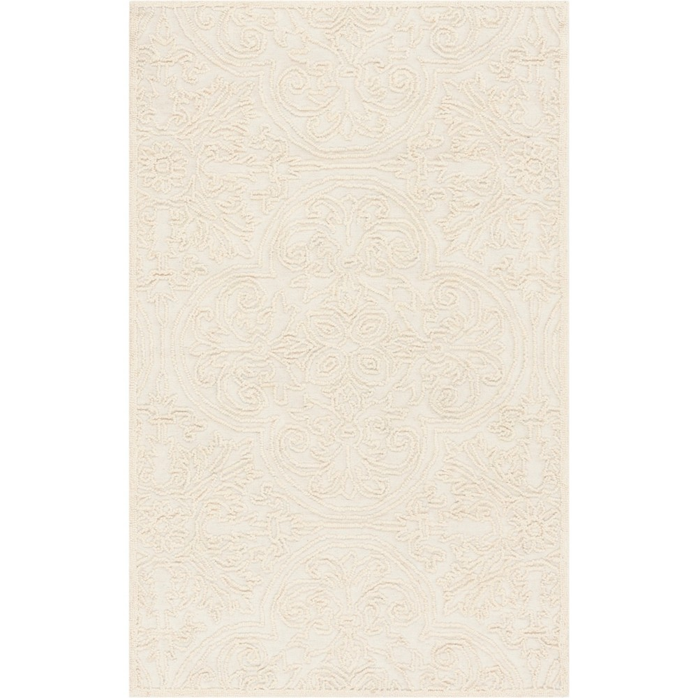 4'X6' Shapes Tufted Area Rug Ivory - Safavieh