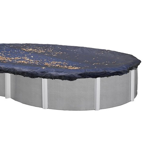 Swimline 16x32 Ft. Heavy Duty Oval Above Ground Winter Swimming Pool Cover, Blue - image 1 of 5