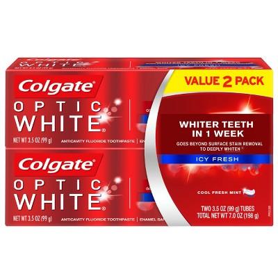 Colgate Optic White Whitening Toothpaste Icy Fresh - 3.5oz/2pk