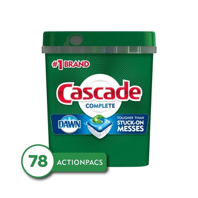 Cascade Complete ActionPacs Dishwasher Detergent - Fresh Scent - 78ct