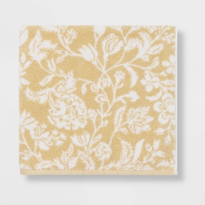 Performance Floral Texture Bath Towel Yellow Floral - Threshold™