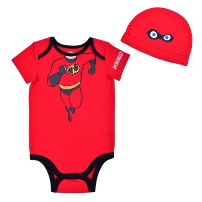 Disney Baby Boy's Bodysuit Creeper with Character Cap for Infants