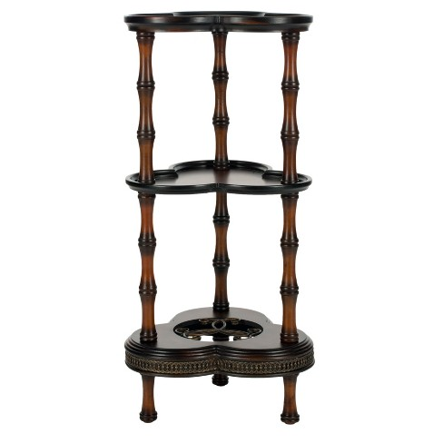 Gloria Side Table With Shelves Brown - Safavieh® - image 1 of 4