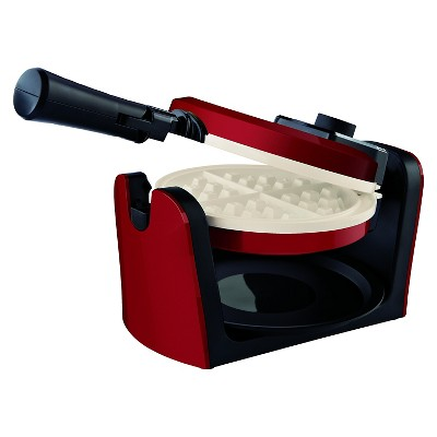 Oster® Titanium Infused DuraCeramic™ Flip Waffle Maker - Red CKSTWFBF10MR-TECO