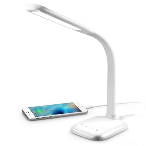 Innoka Gooseneck Led Desk Lamp Adjustable Table Lamp With Usb Charging Port For Home Office 5 Level Dimmer Touch Activated White Target