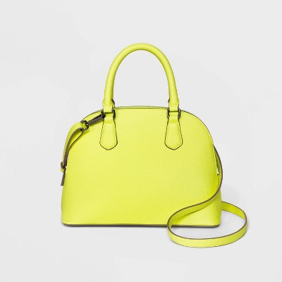 Small Zip Closure Dome Satchel Handbag - A New Day™ Green