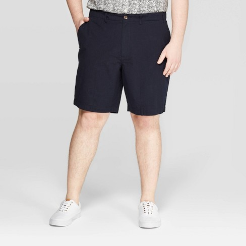 Men's Big & Tall Chino Shorts - Goodfellow & Co™ Federal Blue - image 1 of 3