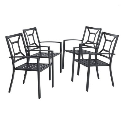 4pc Outdoor Stackable Bistro Chairs - Captiva Designs