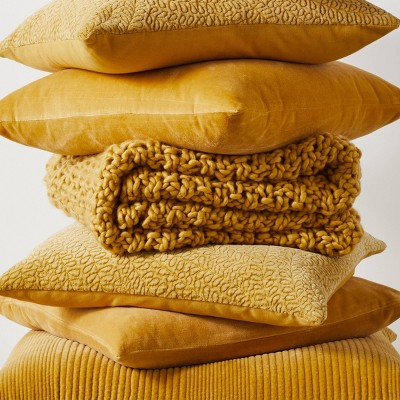 Traditional Gold Pillows Throw Blankets Collection