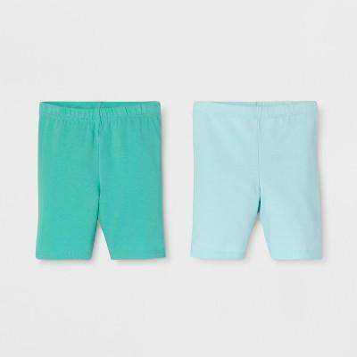 Toddler Girls' Trouser Shorts - Cat & Jack™ Bleached Aqua 4T