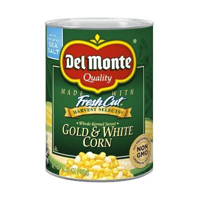 Del Monte Fresh Cut Whole Kernel Sweet Gold & White Corn 15.25oz