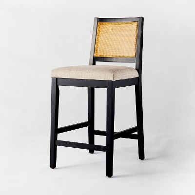 Oak Park Cane Counter Height Stool Beige - Threshold™ designed with Studio McGee