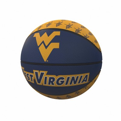 NCAA West Virginia Mountaineers Repeating Logo Mini-Size Rubber Basketball