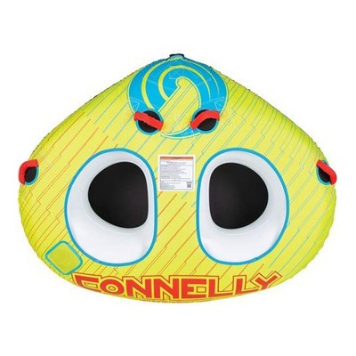 CWB Classic Wing 2 Durable Inflatable Towable 2 Rider Donut Water Tube, Yellow